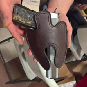 Arsenal AF2011-A1 Double Barrel Large Leather Holster Brown 2