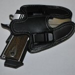 Black Leather Gun Holster Belt Clip