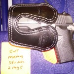 Colt Mustang - Black Leather Pocket Holster
