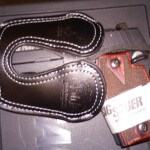 Sig Suaer P938 - Black Leather Holster - Pocket