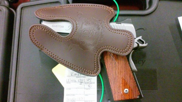 Kimber Ultra Carry 45 Subcompact Leather Holster Brown