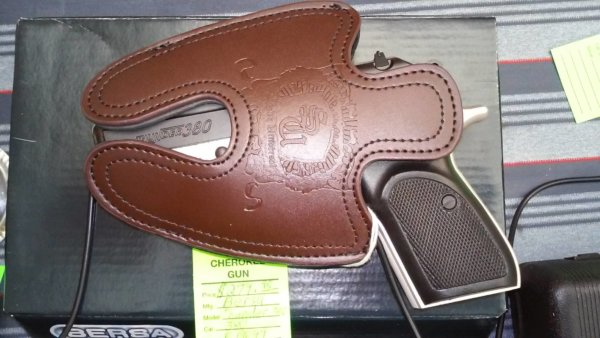 Thunder 380 Brown Subcompact Leather Holster
