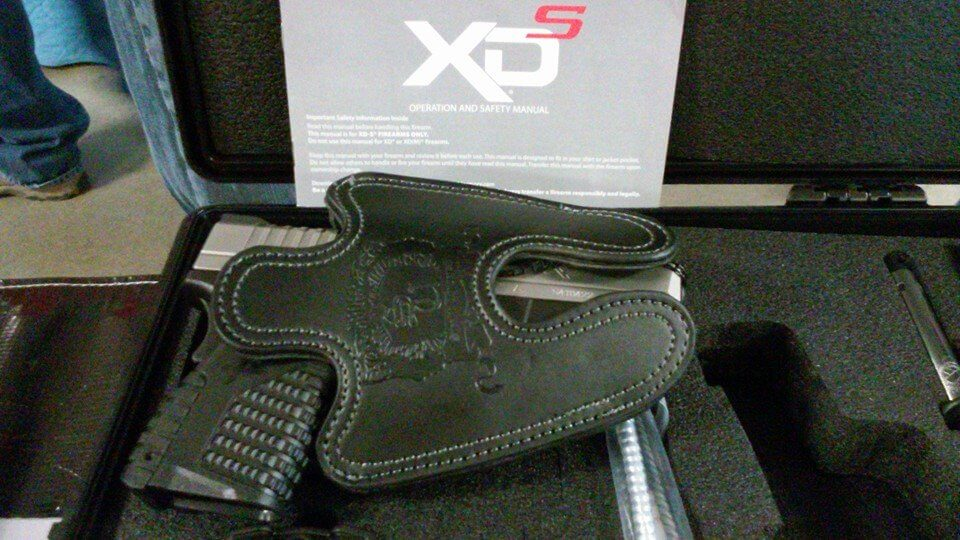 XDS Black Full Size Leather Holster