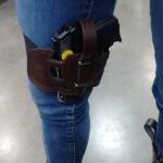 Kel Tec PF9 leather Leg holster