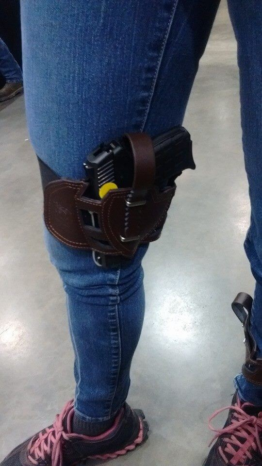Kel Tec PF9 leather Leg holster