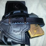 mirco desert eagle leather leg holster